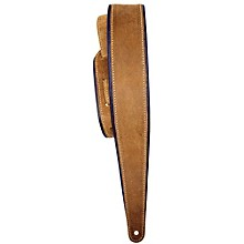 "LM Products 2.5"" Distressed Suede Guitar Strap with Rolled Edge"
