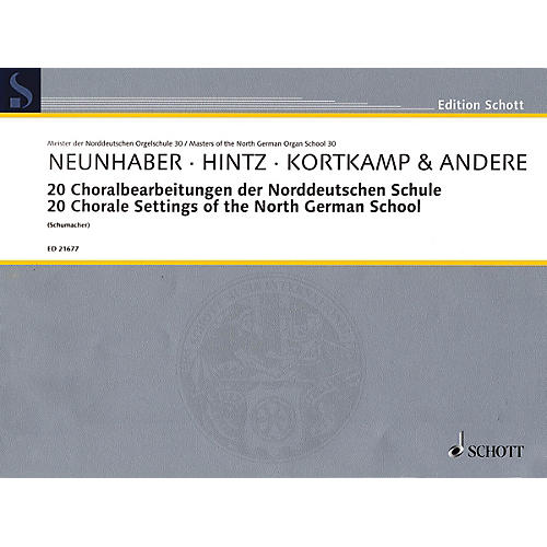Schott 20 Chorale Settings of the North German School Organ Collection Series Softcover-thumbnail