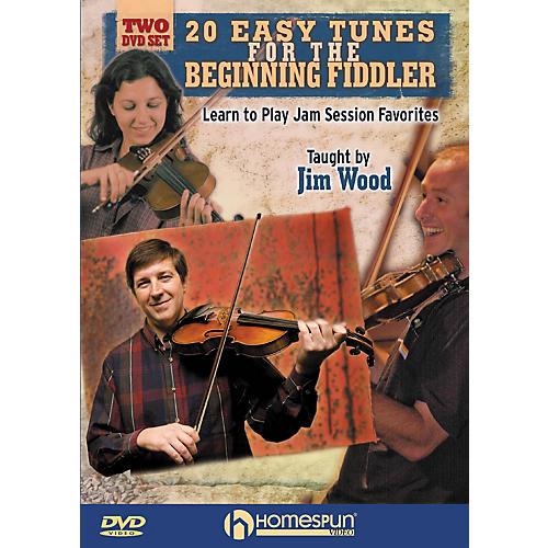 Homespun 20 Easy Tunes for the Beginning Fiddler Homespun Tapes Series DVD Written by Jim Wood-thumbnail