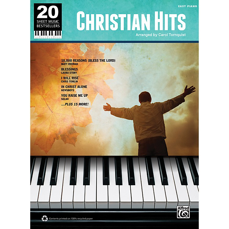 Alfred 20 Sheet Music Bestsellers Christian Hits Easy Piano Book
