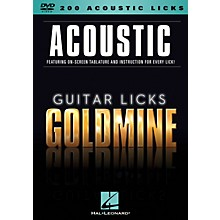 Hal Leonard 200 Acoustic Licks - Guitar Licks Goldmine DVD Series