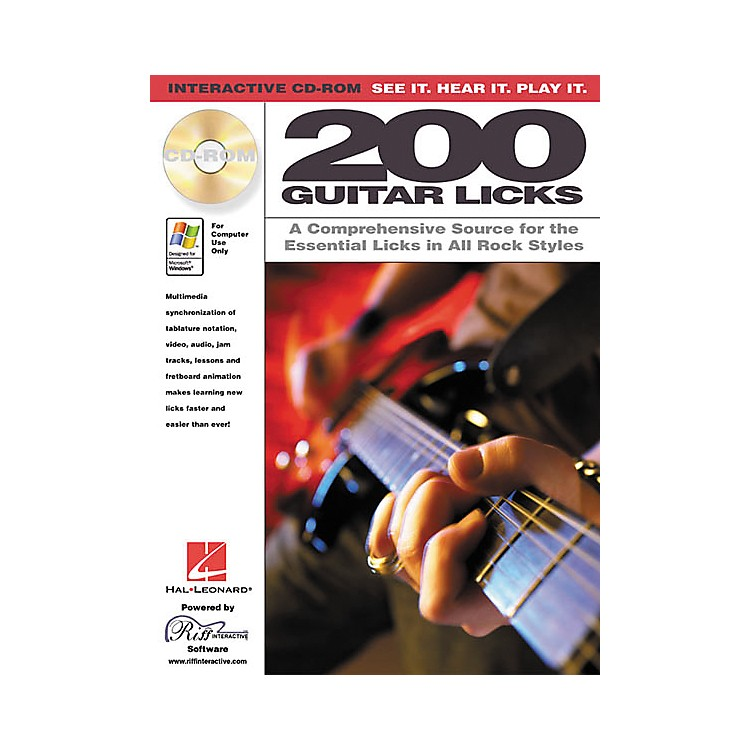 Hal Leonard 200 Guitar Licks (CD-ROM)