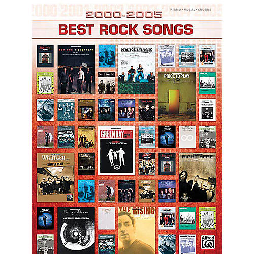 Alfred 2000-2005 Best Rock Songs (2000-2005 Best Songs) Piano/Vocal/Guitar Songbook Series Softcover-thumbnail