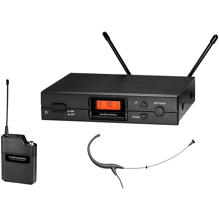 Audio-Technica 2000 Series Wireless Headworn Microphone System / I Band Black I-Band