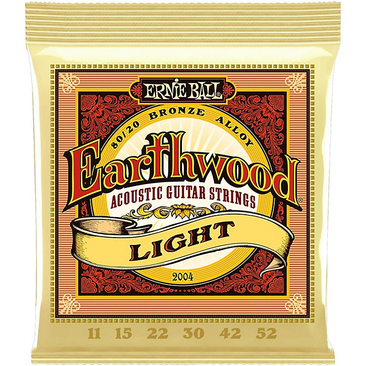 Ernie Ball 2004 Earthwood 80/20 Bronze Light Acoustic Guitar Strings