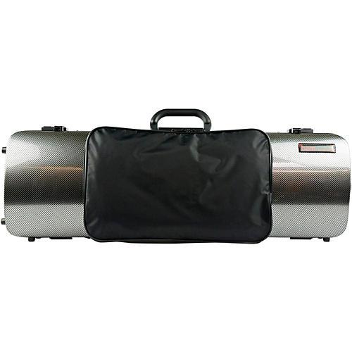 Bam 2011XL Hightech Oblong Violin Case with Pocket Silver Carbon