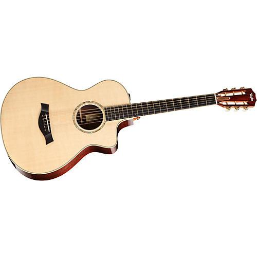 Taylor 2012 12-FRETce-L Mahogany/Cedar Left-Handed Acoustic-Electric Guitar-thumbnail