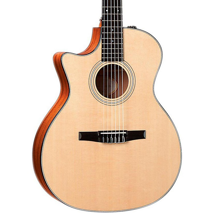 Taylor 2012 314ce-N-L Sapele/Spruce Nylon String Grand Auditorium Left-Handed Acoustic-Electric Guitar Natural
