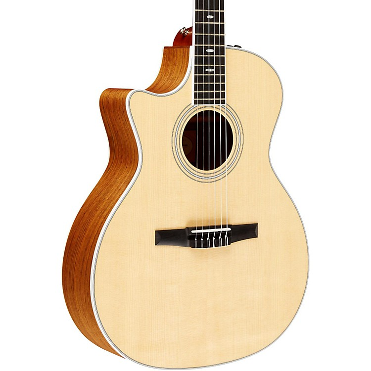 Taylor 2012 414ce-N-L Ovangkol/Spruce Nylon String Grand Auditorium Left-Handed Acoustic-Electric Guitar Natural