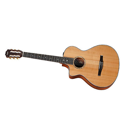 Taylor 2012 512ce-N-L Mahogany/Cedar Nylon String Grand Concert Left-Handed Acoustic-Electric Guitar-thumbnail