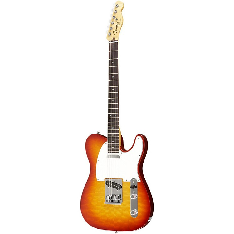 Fender Custom Shop 2012 Custom Deluxe Telecaster Electric Guitar Faded Cherry Burst Rosewood Fretboard