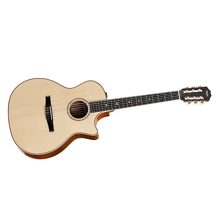 Taylor2012 Fall Limited Grand Auditorium Quilt Sapele Nylon String Acoustic-Electric Guitar