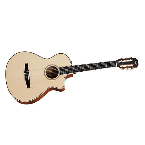 Taylor 2012 Fall Limited Grand Concert Quilt Sapele Nylon-String Acoustic-Electric Guitar-thumbnail