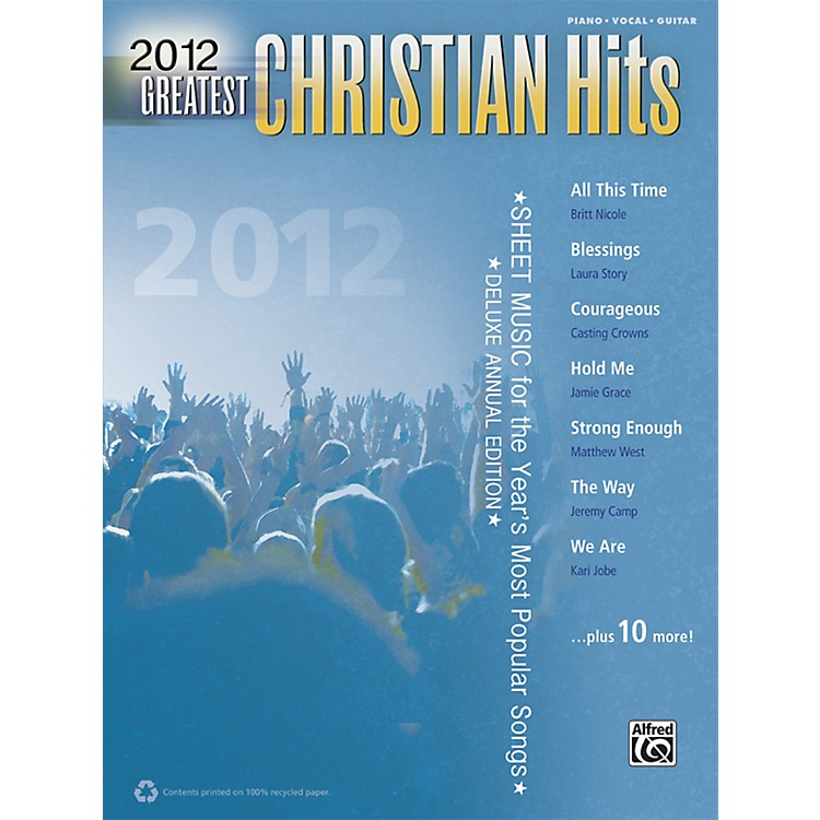 Alfred2012 Greatest Christian Hits PVC Book