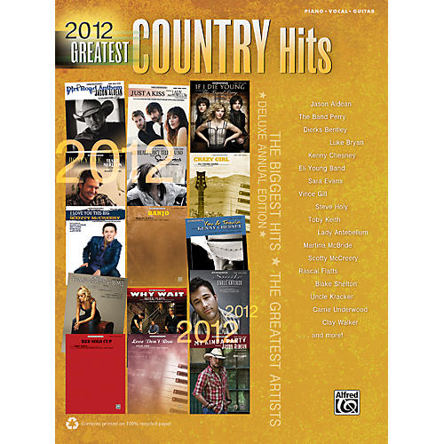 Hal Leonard 2012 Greatest Country Hits PVC Book