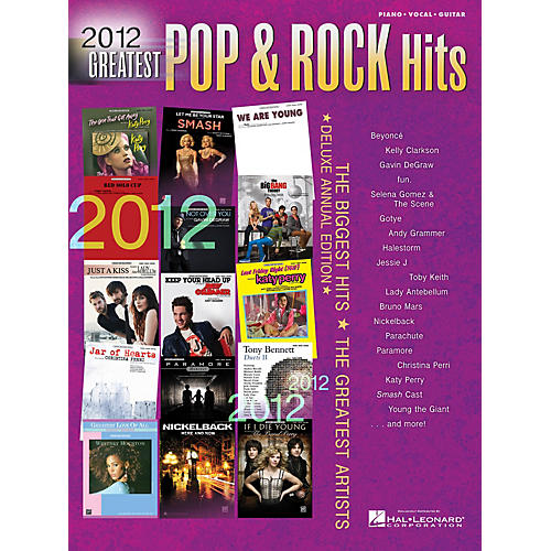Hal Leonard 2012 Greatest Pop & Rock Hits(pvg)# Piano/Vocal/Guitar Songbook Series-thumbnail