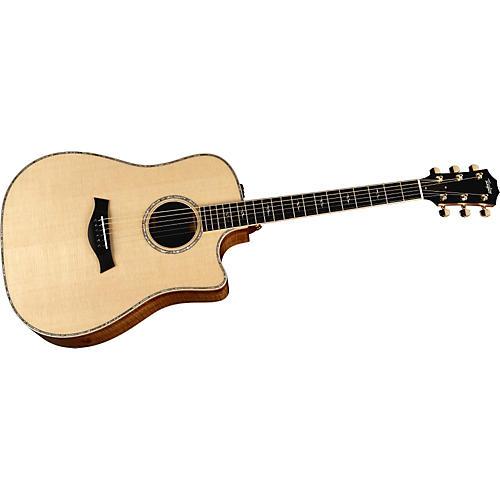 Taylor 2012 K10ce-L Koa/Spruce Dreadnought Left-Handed Acoustic-Electric Guitar-thumbnail