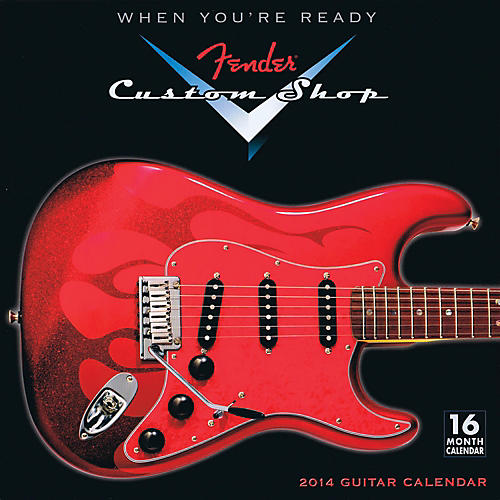 Hal Leonard 2014 Fender Custom Shop 16-Month Wall Calendar