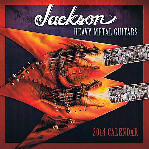 Hal Leonard 2014 Jackson Heavy Metal Guitars Wall Calendar