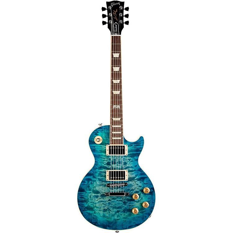 Gibson2014 Les Paul Standard Premium Quilt Electric GuitarOcean Water Perimeter
