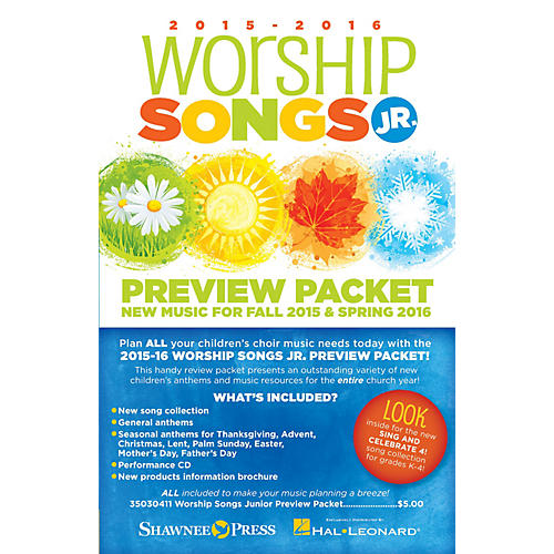 Shawnee Press 2015-16 Worship Songs Junior Preview Packet Resource Kit Composed by Various-thumbnail