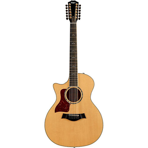 Taylor 2015 654ce 12-String Cutaway Left-Handed Acoustic-Electric Guitar