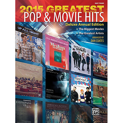 Alfred 2015 Greatest Pop & Movie Hits Easy Piano Book-thumbnail