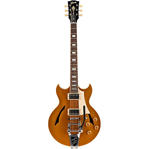 Gibson Custom 2015 Johnny A Standard with Bigsby Hollowbody Electric Guitar Antique Gold
