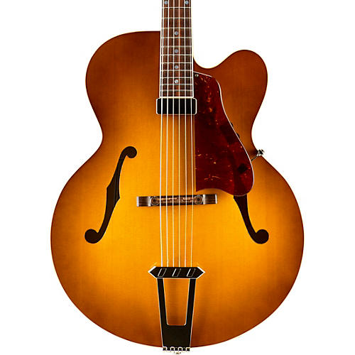 Gibson Custom 2015 Solid-Formed 17 Venetian Cutaway Archtop Hollowbody Electric Guitar Sunrise Tea Burst