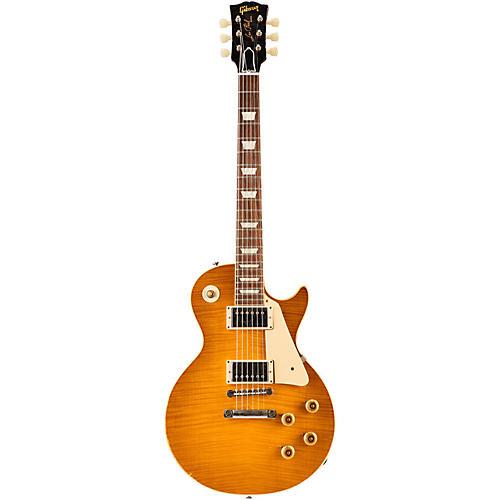 Gibson Custom 2015 True Historic 1960 Les Paul Reissue Aged Electric Guitar Vintage Lemon Burst