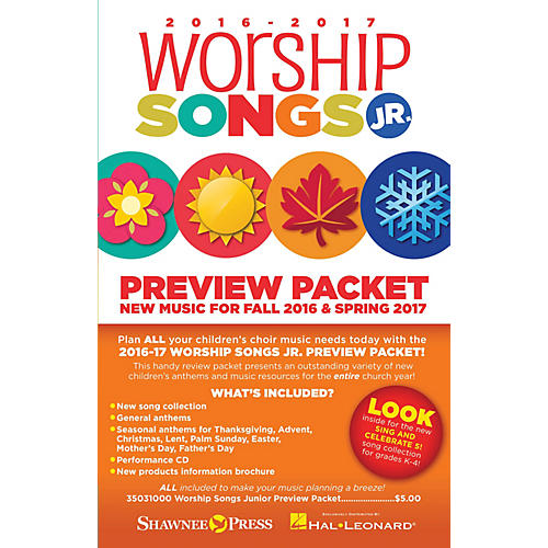 Shawnee Press 2016-17 Worship Songs Junior Preview Packet Resource Kit Composed by Various-thumbnail