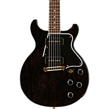 Gibson Custom 2017 Limited Run Les Paul Special Double Cut Electric Guitar TV Black Gold 5-ply Black Pickguard