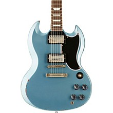 Gibson Custom 2017 Limited Run SG Standard Heavy Aged Electric Guitar Antique Pelham Blue 5-ply Black Pickguard