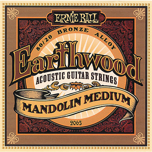 Ernie Ball 2065 Earthwood 80/20 Bronze Mandolin Medium Strings