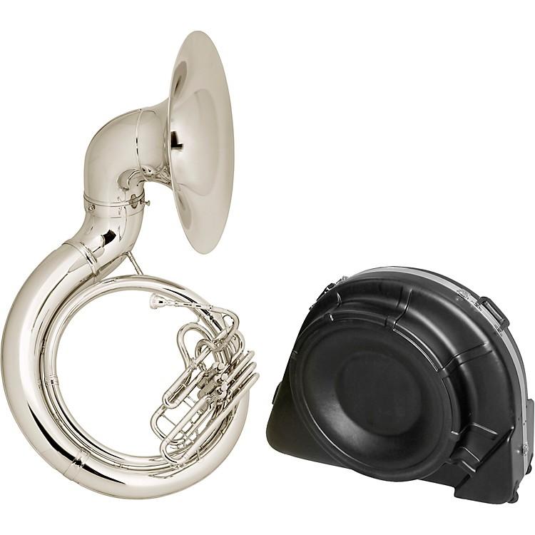 Conn20K Series Brass BBb Sousaphone20KSPW Silver Plate with Case