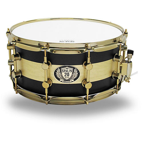 Spaun 20th Anniversary Brass Snare, 14 x 6.5 in.-thumbnail