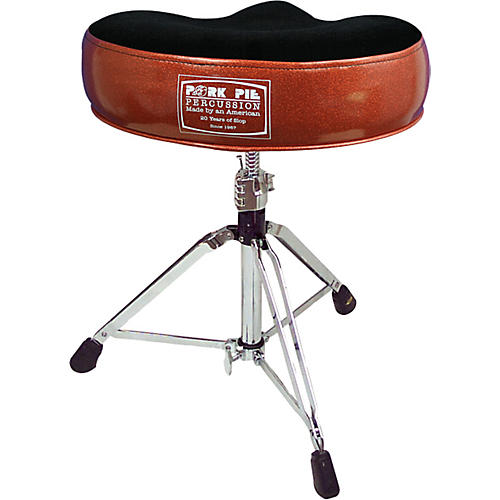 Pork Pie 20th Anniversary Drum Throne Orange Sparkle