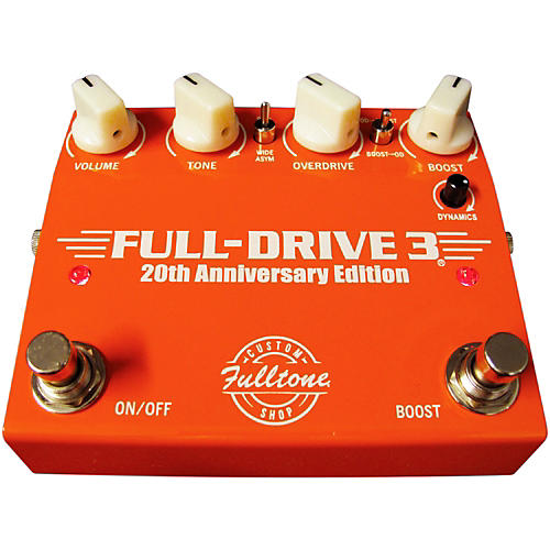 Fulltone Custom Shop 20th Anniversary Limited Edition Full Drive 3 Dual Overdrive Guitar Effects Pedal-thumbnail
