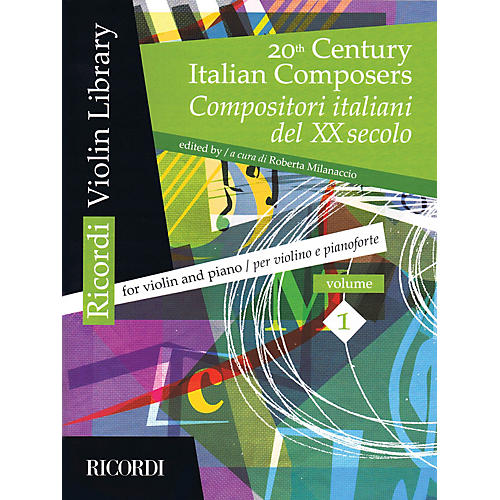 Ricordi 20th Century Italian Composers (Volume 1 Violin and Piano) MGB Series Softcover-thumbnail