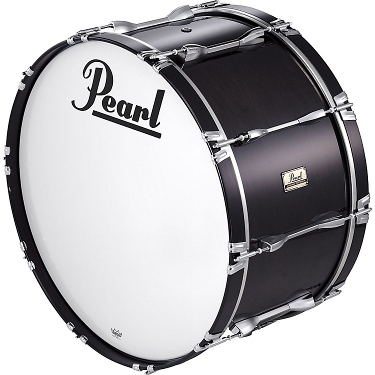 Pearl 20x14 Championship Series Marching Bass Drum Midnight Black
