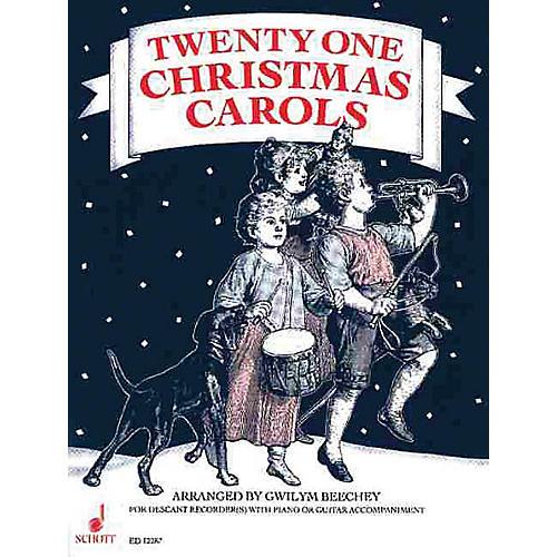 Schott 21 Christmas Carols (Performance Score) Schott Series Arranged by Gwilym Beechey-thumbnail