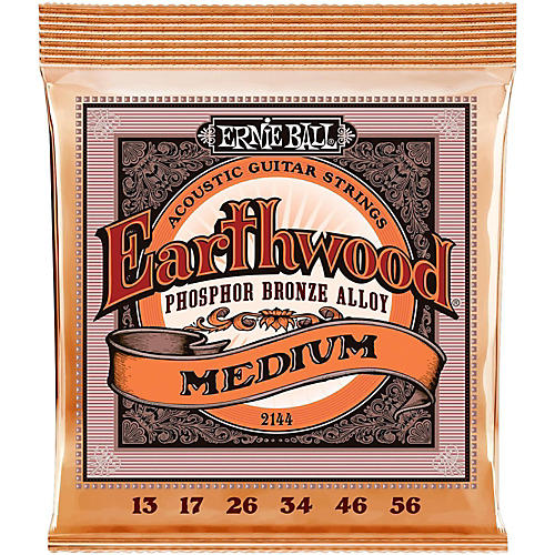 Ernie Ball 2144 Earthwood Phosphor Bronze Medium Acoustic Guitar Strings