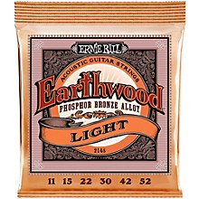 Ernie Ball 2148 Earthwood Phosphor Bronze Light Acoustic Guitar Strings