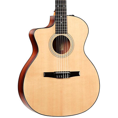 Taylor 214ce-N-L Rosewood/Spruce Nylon String Grand Auditorium Left-Handed Acoustic-Electric Guitar
