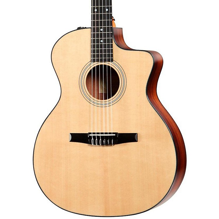 Taylor214ce-N Rosewood/Spruce Nylon String Grand Auditorium Acoustic-Electric GuitarNatural