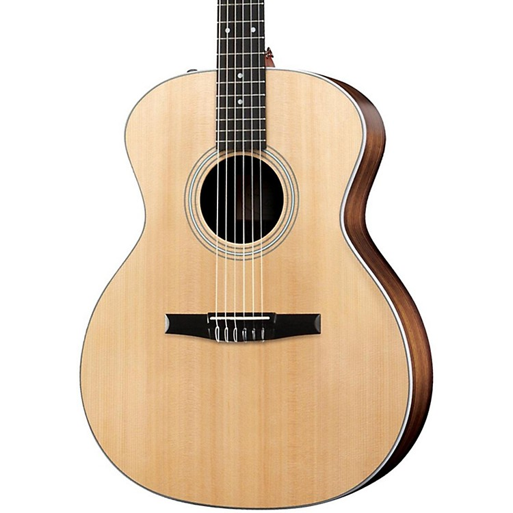 Taylor 214eN Rosewood/Spruce Nylon String Grand Auditorium Acoustic-Electric Guitar Natural