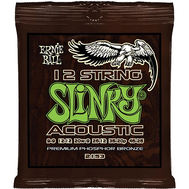 Ernie Ball 2153 Slinky Phosphor Bronze Light 12-String Acoustic Guitar Strings