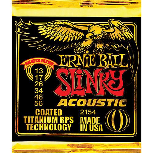 Ernie Ball 2154 Coated Slinky Medium Acoustic Guitar Strings