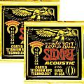 Ernie Ball 2156 Coated Slinky Acoustic Strings Medium Lite 2 Pack  Thumbnail
