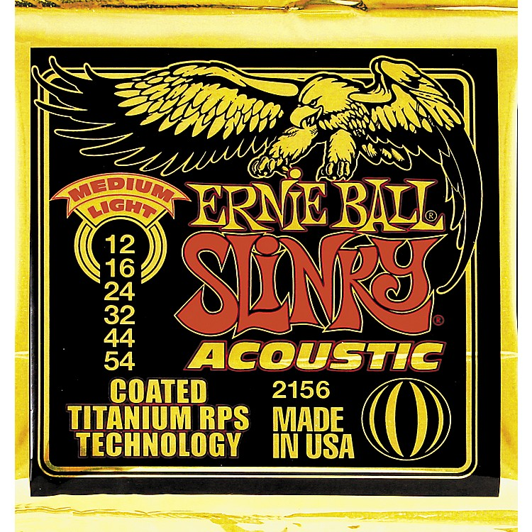 Ernie Ball 2156 Coated Slinky Medium Light Acoustic Guitar Strings
